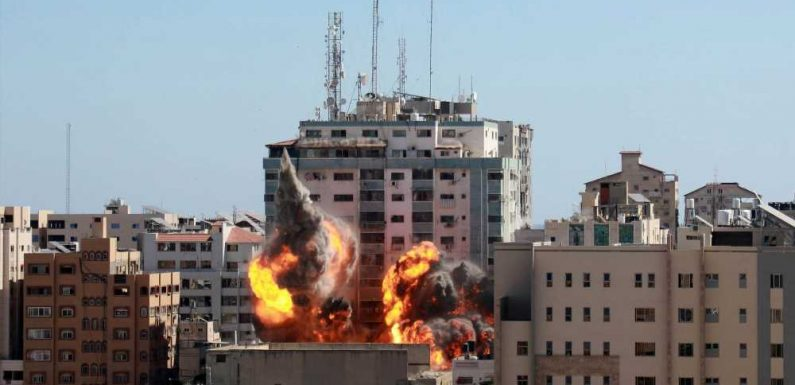 Israeli airstrike takes out building that houses news outlets in Gaza