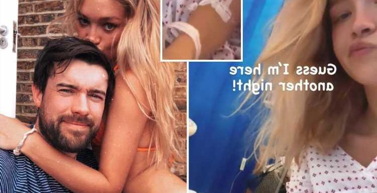 Jack Whitehall's girlfriend Roxy Horner rushed to A&E one day before the Brits as she posts pics from hospital bed