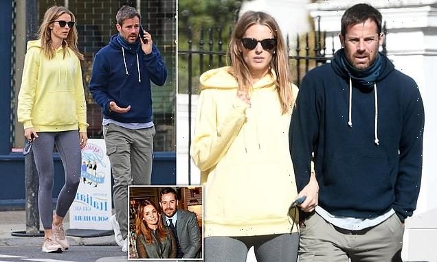 Jamie Redknapp and pregnant Frida Andersson emerge after baby news