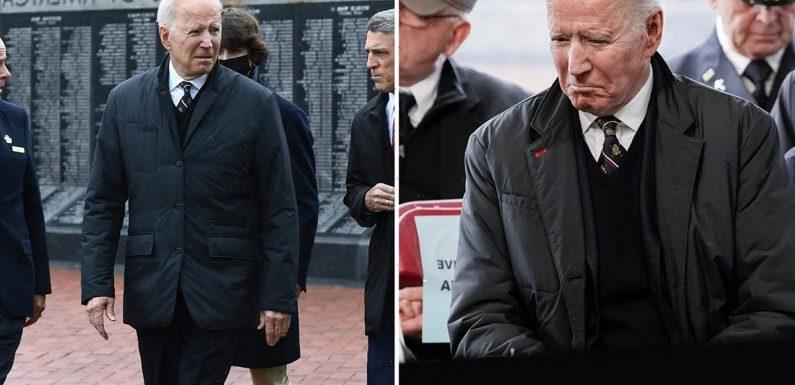 Joe Biden honors son Beau during Memorial Day speech as he issues warning to Putin ahead of G7 meeting