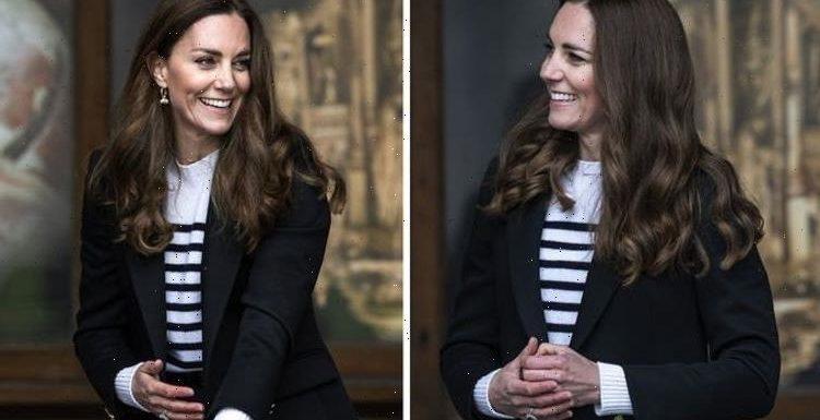 Kate Middleton switches Barbour for £549 blazer for visit to St Andrews – 'so trendy'