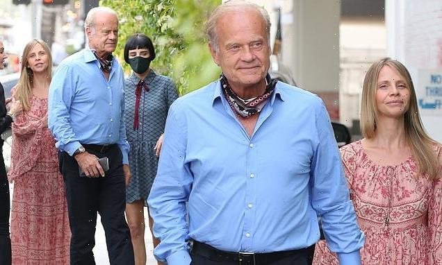 Kelsey Grammer, 66, goes for dinner with wife Kayte Walsh, 42