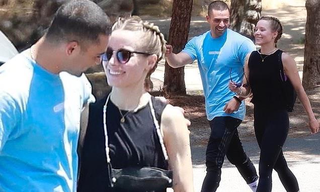 Kristen Bell and costar Benjamin Levy Aguilar enjoy LA hike