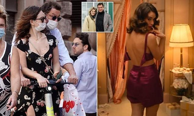 Lily James, 32, gives a nod to Dominic West, 51, scandal