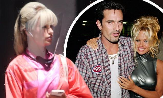 Lily James pictured for the first time as Pamela Anderson