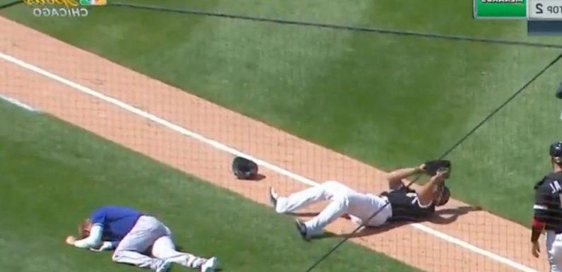 MLB Star Jose Abreu Injured After Violent Collision With Royals Player On Field