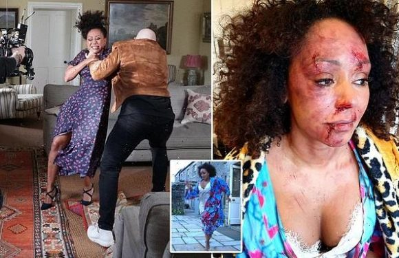 Mel B appears in shocking video to highlight domestic violence