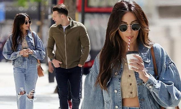 Michelle Keegan looks loved-up with husband Mark Wright on stroll
