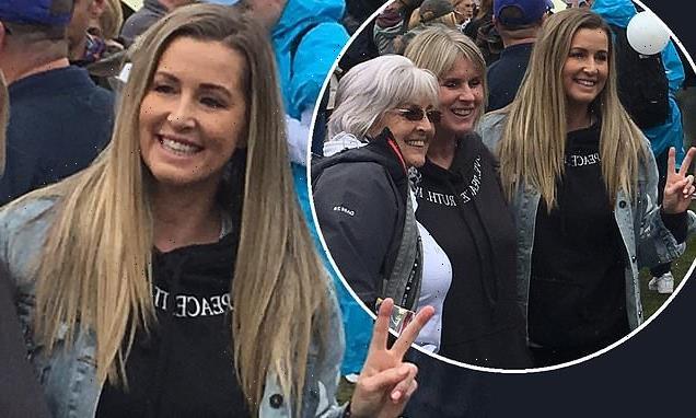 RHOCH's Leanne Brown attends anti-lockdown rally in Manchester