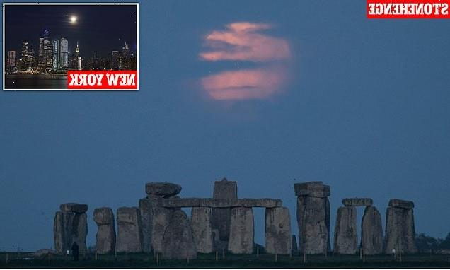Super Flower Moon dazzles the early morning skies around the world