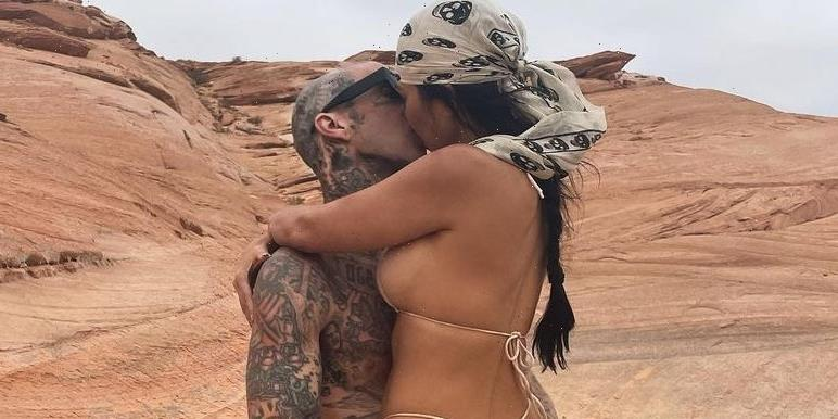 """The Kardashians Are in """"Shock"""" Over How """"Obsessed"""" Kourtney Is With Travis Barker"""