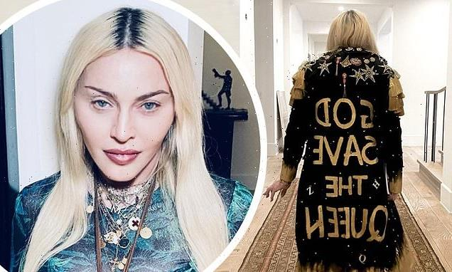 'This is not a request!': Madonna poses in a God Save the Queen coat