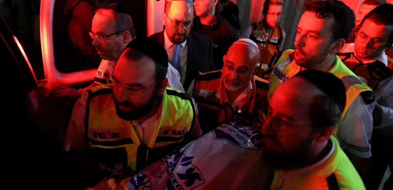 Two dead and 150 hurt as synagogue grandstand collapses in occupied West Bank at start of Jewish festival Shavuot