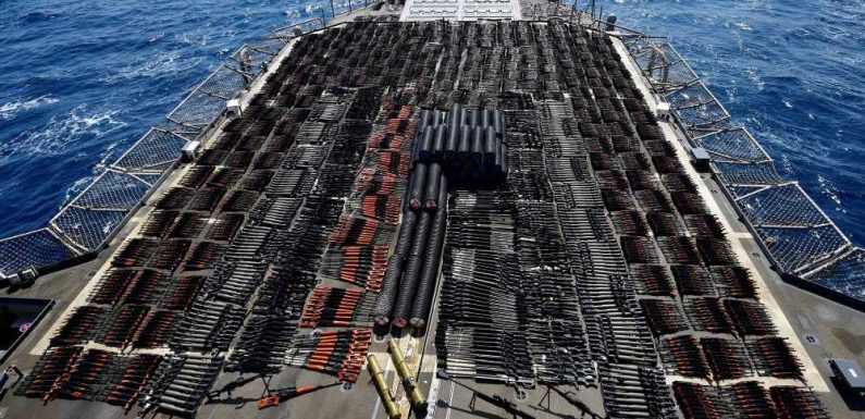 US Navy seizes thousands of assault weapons from ship allegedly sent by Iran