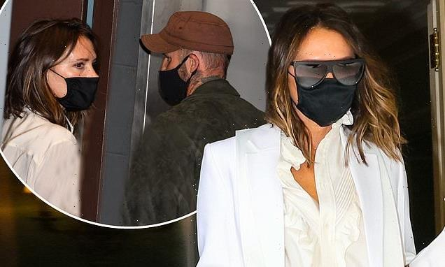 Victoria and David Beckham are spotted during trip to New York City