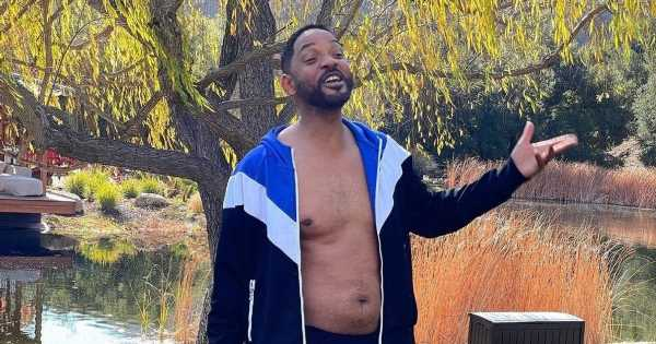 Will Smith returns to the gym and says he's 'back to square one' with fitness