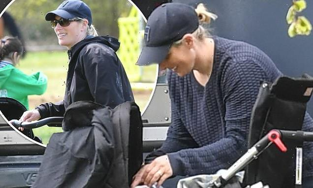 Zara Tindall seen with newborn son Lucas for the first time