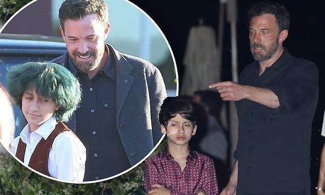 Ben Affleck bonds with Jennifer Lopez's twins Emme and Max at dinner