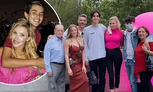 Brandi Glanville with Eddie Cibrian and LeAnn Rimes for son's birthday