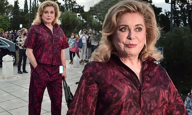Catherine Deneuve, 77, stuns at the Dior Cruise fashion show in Athens
