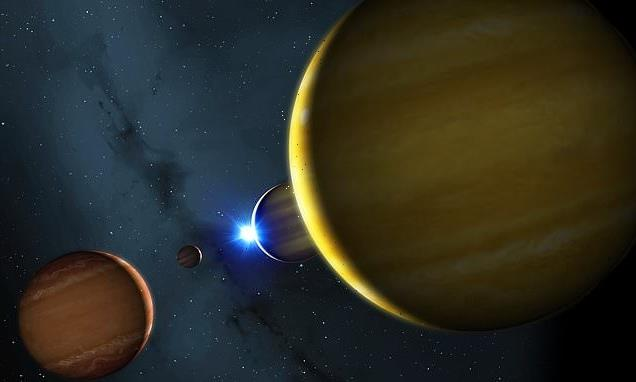 Death of star 135 light years away will send four planets 'pinballing'
