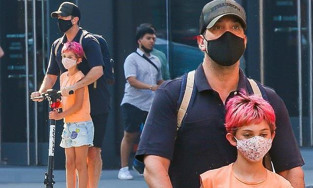 Friends star David Schwimmer makes a rare sighting with daughter Cleo