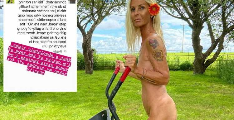 Furious Ulrika Jonsson hits back at cruel troll who slammed her for naked charity photoshoot