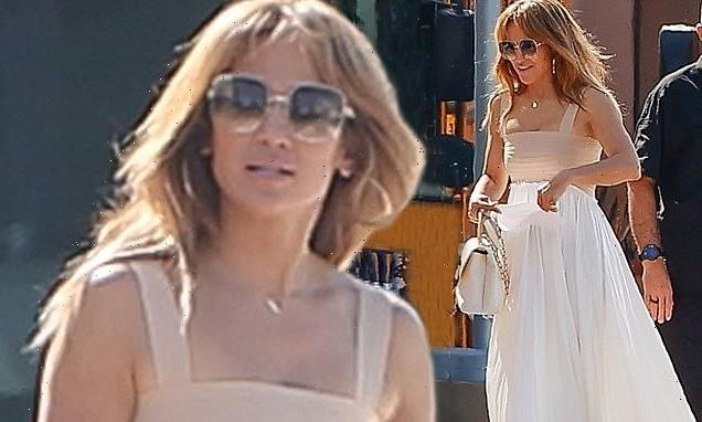 Jennifer Lopez looks resplendent in white while running errands in LA