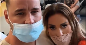 Katie Price's fiancé Carl Woods gets second tattoo of her face on his arm