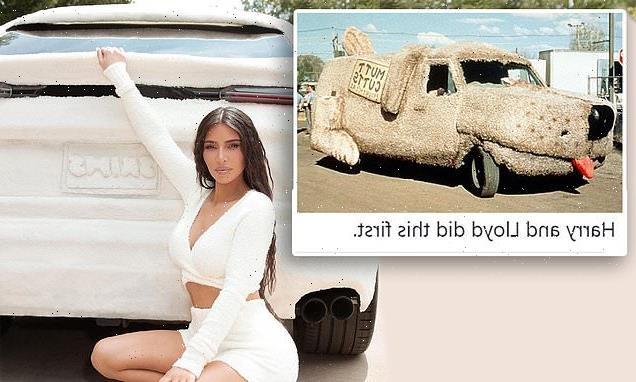 Kim Kardashian's 'SKIMS Lambo' gets compared to Dumb and Dumber van