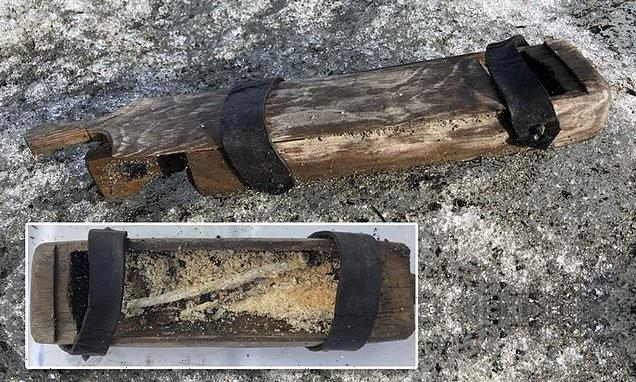 Melting Norwegian glacier release 500-year-old Viking wooden box