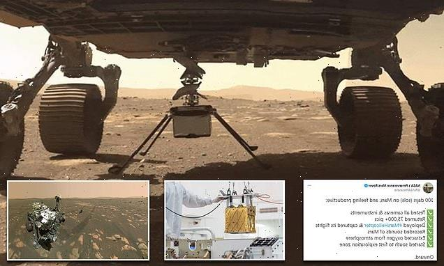 NASA marks Perseverance's 100th day on Mars in tweet