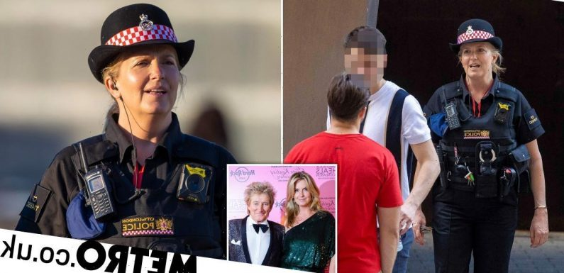Penny Lancaster scolds man for public urination out on police patrol