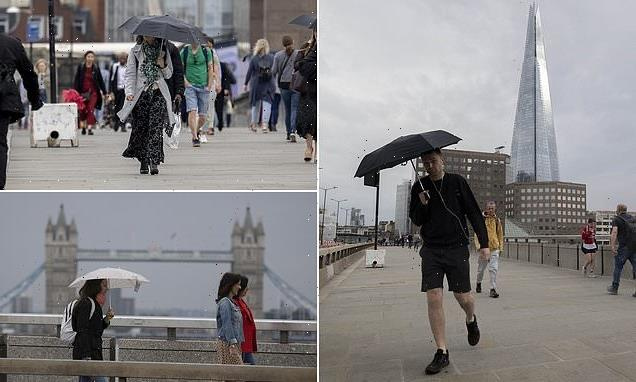 Rain and temperatures fall as UK endures milder 64F today