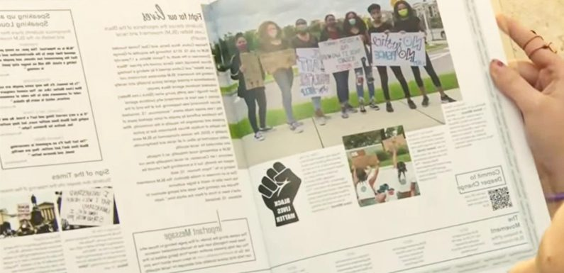 Students not allowed to hand out yearbook after 'teachers and parents complained about Black Lives Matter section'