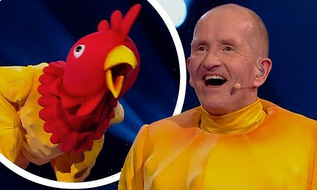 The Masked Dancer: Eddie The Eagle is unveiled asRubber Chicken
