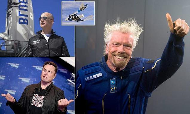 Virgin founder Sir Richard Branson 'could beat Jeff Bezos to space'
