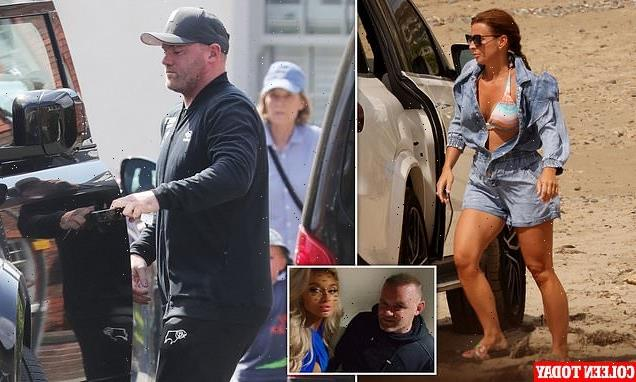 EXCLUSIVE: Coleen Rooney shirks her woes  as Wayne remains at home