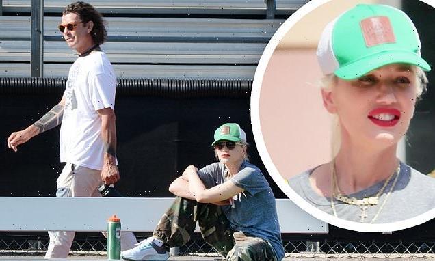 Gwen Stefani and ex-husband Gavin Rossdale keep their distance