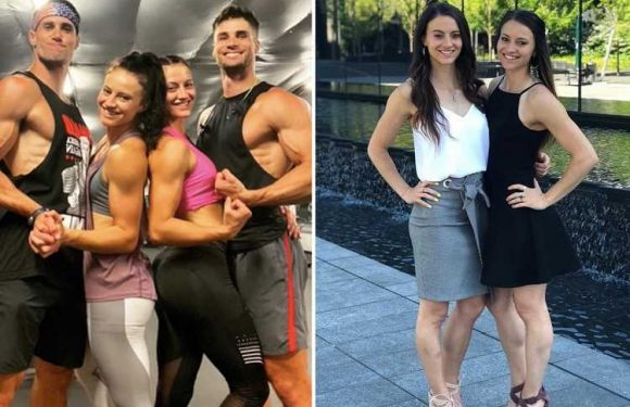 Identical twin sisters defy the odds to find love with identical twin brothers – & the foursome are now living together