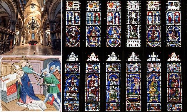 Stained glass windows in Canterbury Cathedral among world's oldest