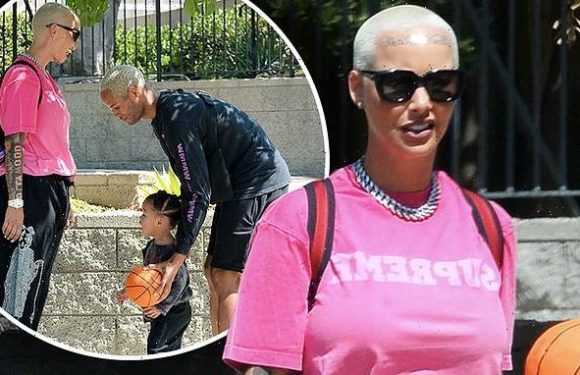 Amber Rose enjoys quality mommy and me time with her toddler Slash