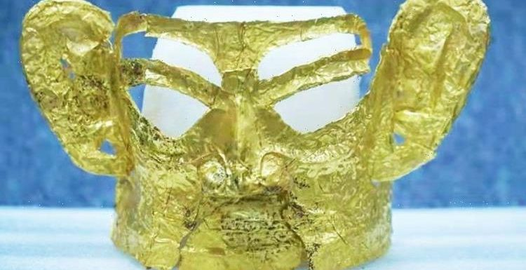 Archaeologists blown away by 3,000-year-old gold mask found in famed Chinese ruins