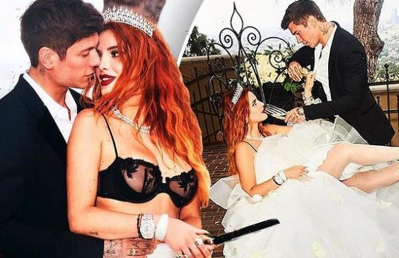 Bella Thorne and fiancé pack on the PDA in steamy engagement shots