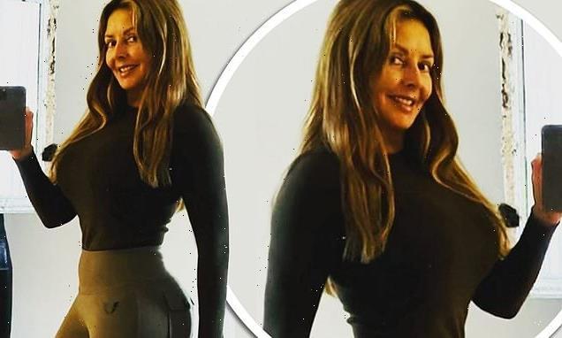 Carol Vorderman, 60, puts her incredible physique in khaki leggings