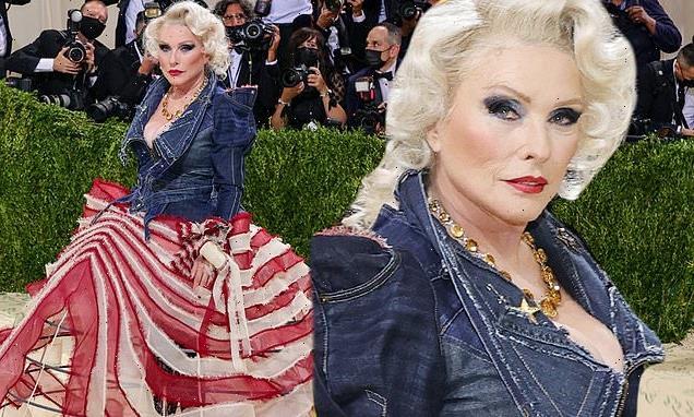 Debbie Harry gets patriotic in custom ensemble at 2021 Met Gala