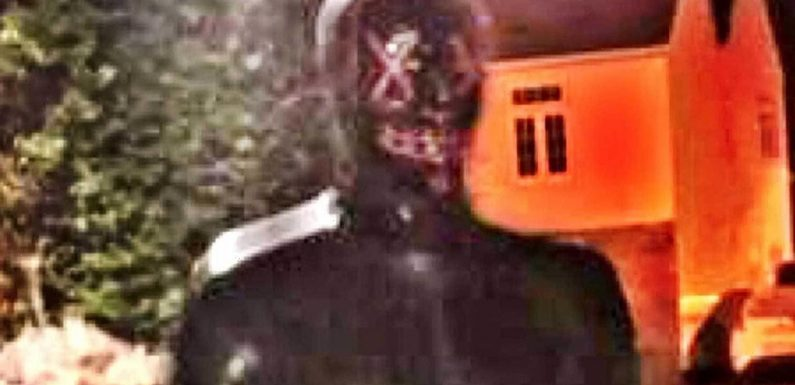 Fears 'Somerset Gimp Man' has returned after reports masked creep spotted spying through windows