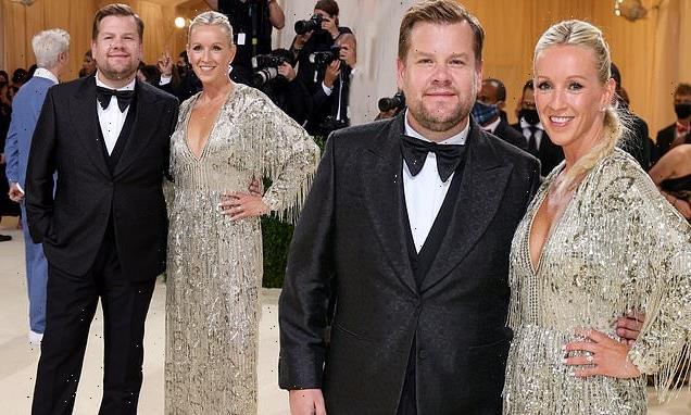 James Corden wears Gucci tuxedo with wife Julia Carey at Met Gala