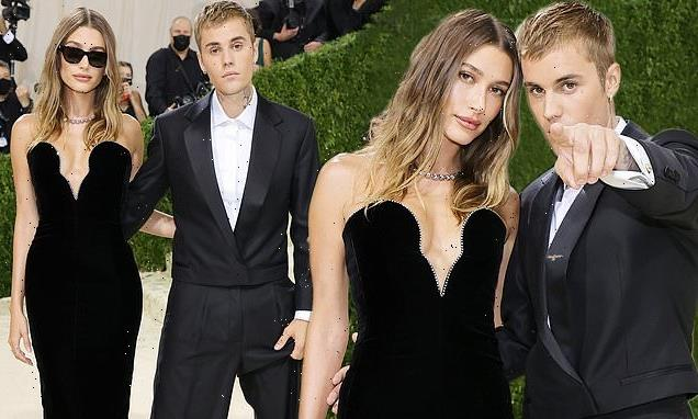 Justin and Hailey Bieber match in black at first Met Gala together
