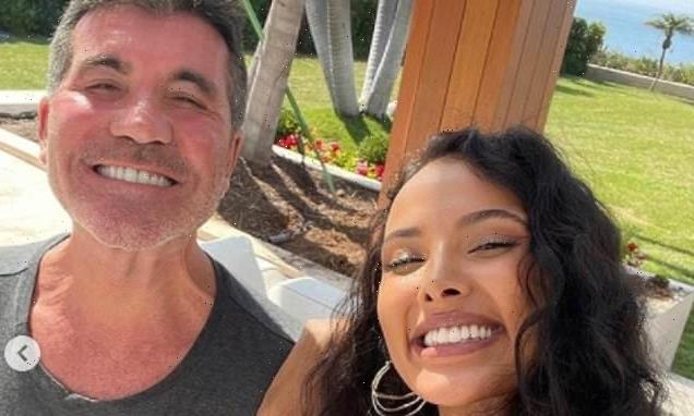 Maya Jama grins for selfie with Simon Cowell as host of Walk The Line